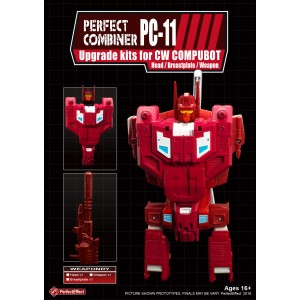 Perfect Effect PC-11 Combiner Wars Computron Upgrade Set  1: Chestplate + Head G1 + Lasercannon