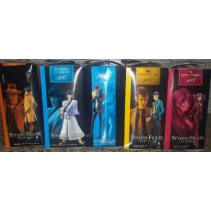 Banpresto Stylish Tv Version Lupin III PVC Figure Serie Completa: Lupin, Gaemon, Jigen, Fujiko, Zenigata(Scatole Aperte)