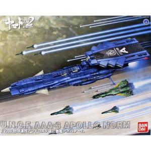 Bandai Plamo YAMATO 2202 Space Battleship AAA3 Apollo UNCF 1/1000