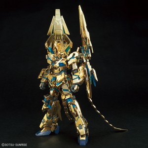 "HGUC 1/144 Gundam Unicorn Phenex Destroy Mode ""Gold Plated"" Narrative Version"