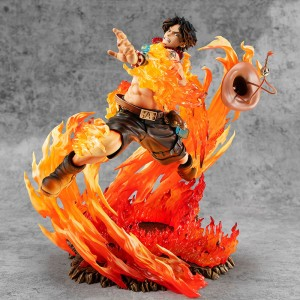 Megahouse One Piece POP SA Maximum Portgas D. Ace 15Th Anniversary Edition
