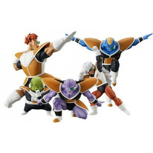Banpresto Dragonball Z Dramatic Showcase Squadra Ginew Set di 5