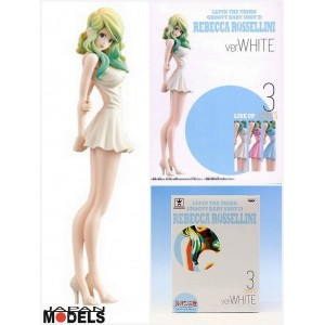 Banpresto Lupin III Groovy Baby Shot 3 Rebecca Rossellini White Dress