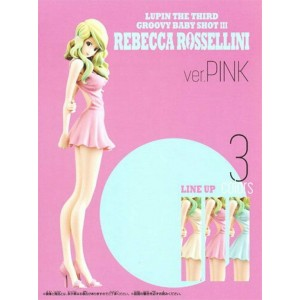 Banpresto Lupin III Groovy Baby Shot 3 Rebecca Rossellini Pink Dress
