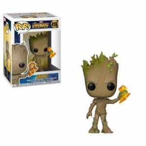 Funko POP Marvel Avengers Infinity War 416 Groot With Stormbreaker