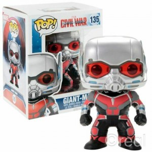 "Funko POP Marvel Civil War 135 Ant-Man Giant-Man ""Over Size"""