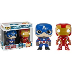 Funko POP Marvel Civil War Captain America & Iron Man 2-Pack Exclusive