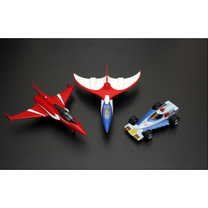 EXG-15 & EXG-16 Gatchaman Machine Set A + B: G-1, G-2, G-3, G-4, God Phoenix, Red Impulse
