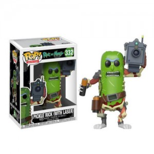 Funko POP Animation Rick and Morty 332 Pickle Rick(With Laser)