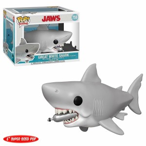 "Funko POP Movies Jaws 759 Great White Shark With Diving Tank ""Over Size"""