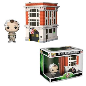 Funko POP Movies Town 03 Ghostbusters Dr. Peter Venkman With Firehouse