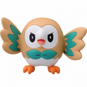 Takaratomy Pokemon Moncolle EMC_02 Rowlet Battle Pose