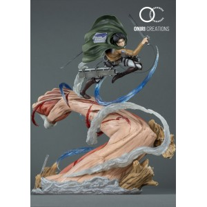 ONIRI CREATION 1/6TH SCALE DIORAMA LEVI VS FEMALE TITAN
