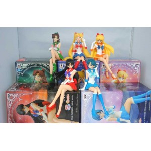 Banpresto Sailor Moon Break Time Figure Complete Set: Moon, Mars, Mercury, Jupiter, Venus