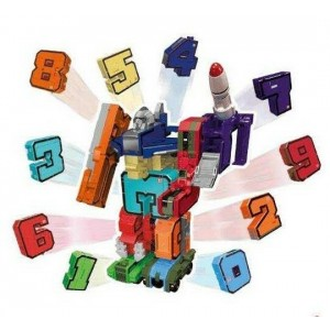 EMCO Pocket Morphers TRANSFORMERS Assortimento Numeri Set di 10 Number Bot