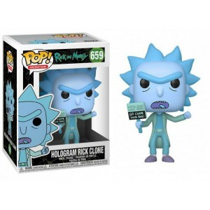 Funko POP Animation Rick And Morty 659 Hologram Rick Clone
