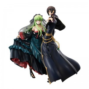 Megahouse Code Geass Lelouch Lamperouge & CC GEM Premium SET STATUE