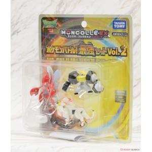 Takaratomy Pokemon Moncolle Battle Strogest Set Vol.2 Melmetal Scizor Solgaleo