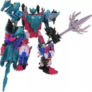 Takaratomy Transformerse Select King Poseidon/Piranacons Set di 6 Completo