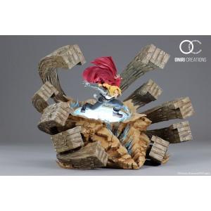 Oniri Creations 1/6TH Scale Statue: Full Metal Alchemist Edward Elric 'A FIERCE COUNTER-ATTACK'(Damaged Brown Box)