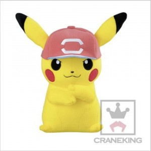 Banpresto Craneking Pokemon Sun And Moon Pikachu With Hat Type C Plush Doll 30 cm