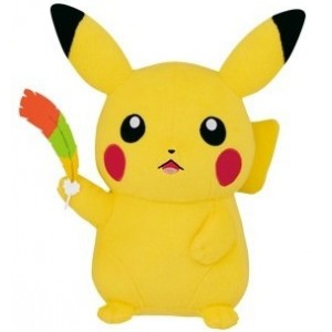 Banpresto Craneking Pokemon 20TH Anniversary Movie Pikachu With Oh-Oh Feather Plush Doll 30 cm