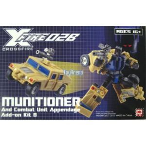 Fansproject Crossfire II Explorer & Munitioner W/ROTF Bruticus