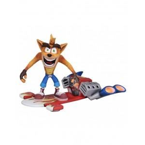 Neca Crash Bandicoot With Jet Board Deluxe Figure