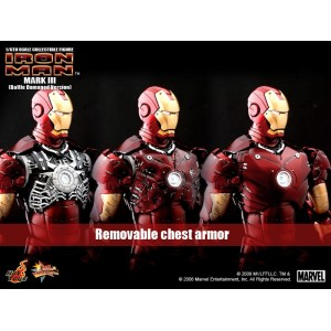 Hot Toys Movie Masterpiece MMS110 Iron Man 1 Iron Man MK-III Mark 3 Battle Damaged