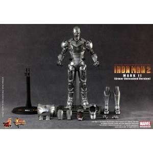 "Hot Toys Movie Masterpiece MMS150 Iron Man 1 Iron Man MK-II Mark 2 ""Unleashed"""
