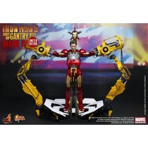 Hot Toys Movie Masterpiece MMS160 Iron Man 2 Iron Man MK-IV Mark 4 With suit Gantry