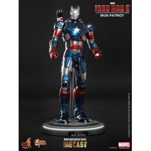 Hot Toys Movie Masterpiece MMS195-D01 Iron Man 3 Iron Patriot Die-Cast