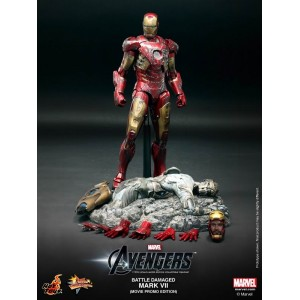 Hot Toys Movie Masterpiece MMS196 Avengers Iron Man MK-VII Mark 7 Battle Damaged