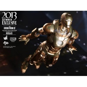 Hot Toys Movie Masterpiece MMS208 Iron Man 3 Iron Man MK-XXI Mark 21 Midas