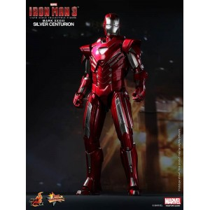 Hot Toys Movie Masterpiece MMS213 Iron Man 3 Iron Man MK-XXXIII Mark 33 Silver Centurion