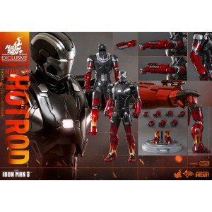 Hot Toys Movie Masterpiece MMS272-D08 Iron Man 3 Iron Man MK-XXII Mark 22 Hot Rod Die-Cast