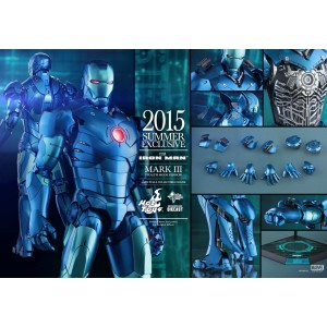 Hot Toys Movie Masterpiece MMS314-D12 Iron Man 1 Iron Man MK-III Mark 3 Stealth Die-Cast