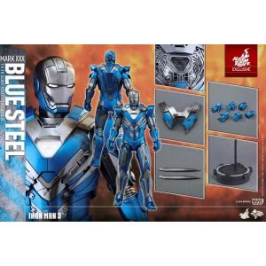 Hot Toys Movie Masterpiece MMS391 Iron Man 3 Iron Man MK-XXX Mark 30 Blue Steel