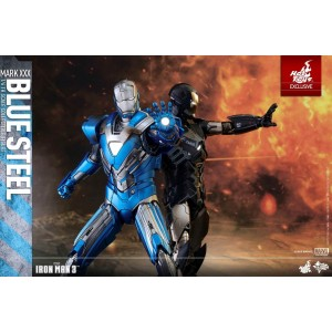 Hot Toys Movie Masterpiece MMS391 Iron Man 3 Iron Man MK-XXX Mark 30 Blue Steel