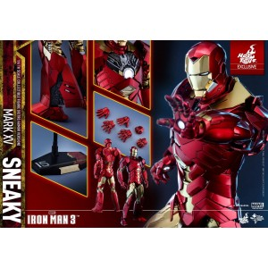"""Hot Toys Movie Masterpiece MMS396 Iron Man 3 Iron Man MK-XV Mark 15 Sneaky """"Retro Armor Version"""""""