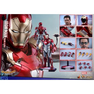 Hot Toys Movie Masterpiece MMS427-D19 Spider-Man Homecoming Iron Man MK-XLVII Mark 47 Die-Cast