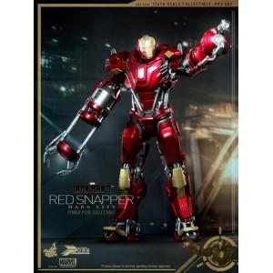 Hot Toys Movie Masterpiece MMS PPS002 Iron Man 3 Iron Man MK-XXXV Mark 35 Red Snapper Power Pose