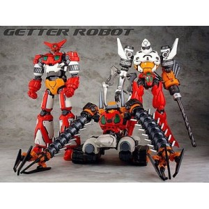 Fewture EXG-01/02/03 Getter Robo Set + Get Machine Eagle/Jaguar/Bear + Missile Machine Gun