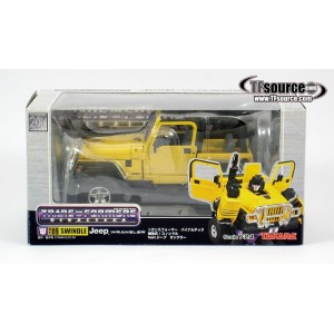 Takaratomy Transformers Binaltech BT-09 Swindle feat. Jeep Wrangler