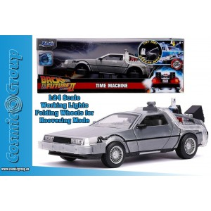 Jada Model Car BTTF Back To The Future II DELOREAN DIE CAST 1:24 W LIGHTS