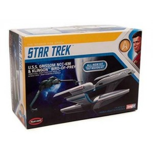 Polar Light Plamo Star Trek U.S.S. Grissom NCC-638 & Klingon Bird-Of-Prey 1/1000