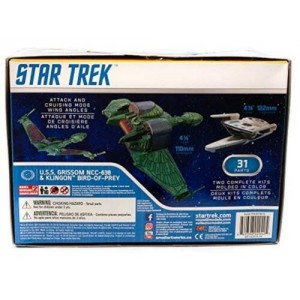 Polar Light Plamo Star Trek U.S.S. Grissom NCC-638 & Klingon Bird-Of-Prey 1/1000