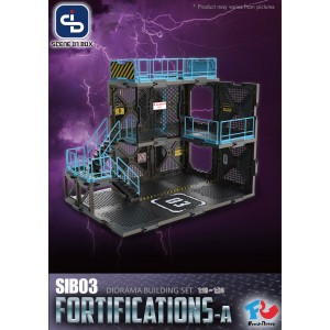 Fresh Retro SIB (Scene In Box) Diorama Building Set: SIB03 FORTIFICATIONS TYPE A
