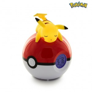 Teknofun Pokemon Pikachu Led Lamp Digital Alarm