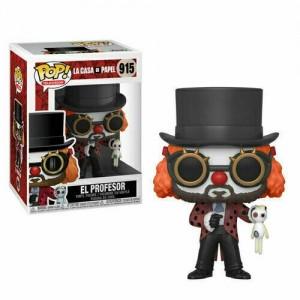 Funko POP Television La Casa de Papel 915 El Profesor 'Clown Version'